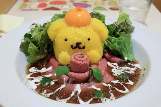 Menu makanan di Pompompurin Cafe Harajuku