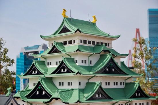 Miniatur Osaka Castle di Legoland Nagoya