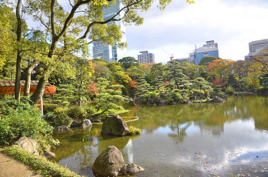 Musim gugur di Taman Keitakuen Osaka