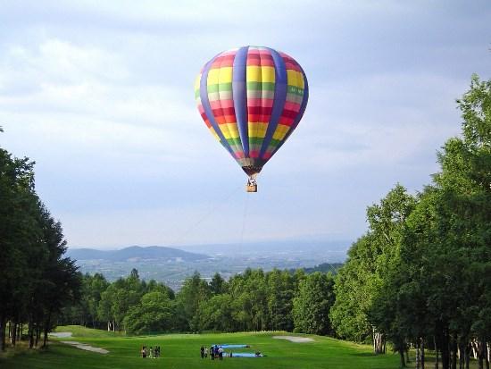 Naik balon udara di Furano Hokkaido