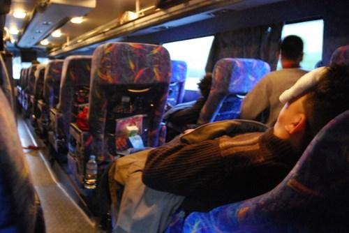 Naik bus malam di Jepang