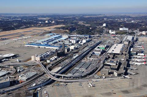 Foto Narita Airport Jepang dari angkasa