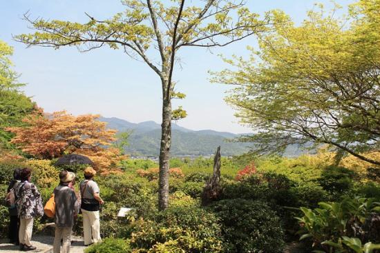 Panorama Okochi Sanso di daerah wisata Arashiyama
