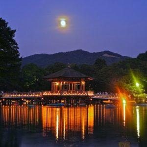 Pavilio Ukimido saat Festival Nara Tokae