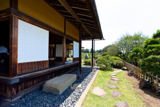 Paviliun Kobuntei di Taman Kairakuen Ibaraki