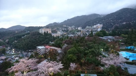 Pemandangan Arima Onsen Sakura 2020