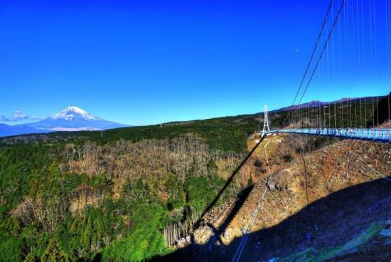 Pemandangan Gunung Fuji dari Mishima Skywalk