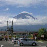 Pemandangan Gunung Fuji dari Stasiun Kawaguchiko