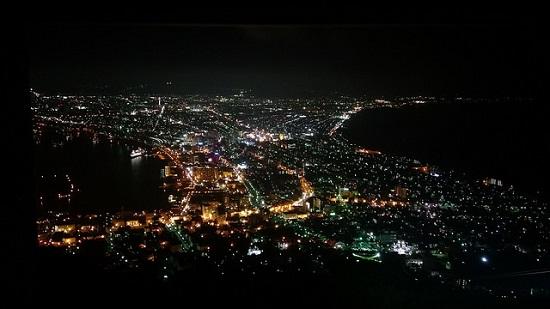 Pemandangan Hakodate dari atas Gunung Hakodate