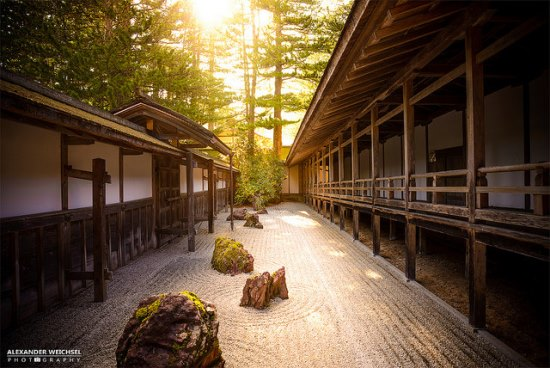 Pemandangan Kuil Kongobuji di Gunung Koya Wakayama
