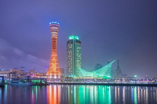 Pemandangan Malam Kobe yang indah