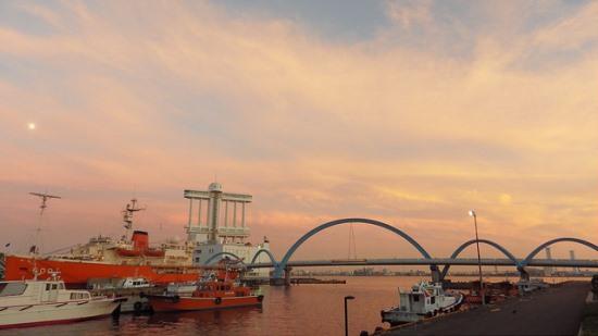 Pemandangan Pelabuhan Akuarium Nagoya