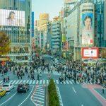 Pemandangan Shibuya Scramble