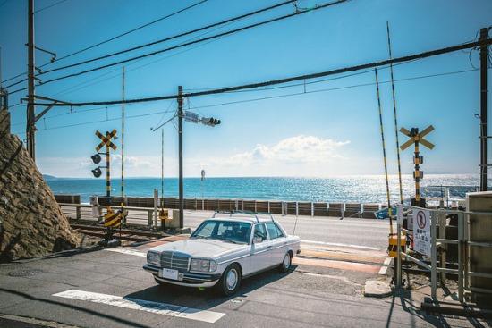 Pemandangan Teluk Sagami di Kamakura