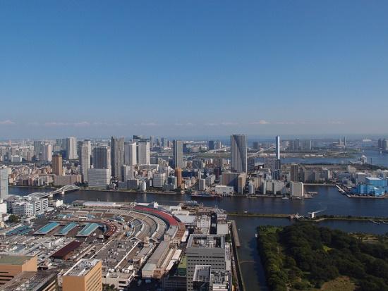 Tsukiji Market dari Shimbashi Shiodome
