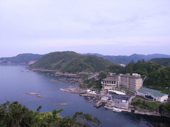 Pemandangan daerah wisata Kinosaki Onsen