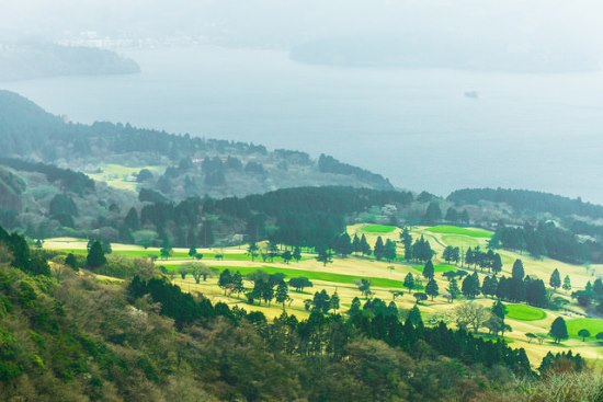 Pemandangan dari Komagatake Ropeway di Hakone En