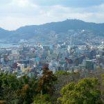 Pemandangan kota Nagasaki dari Kazagashira Park