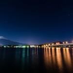 Pemandangan malam danau Kawaguchiko