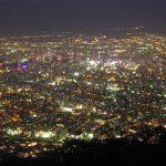 Pemandangan malam dari Gunung Moiwa Sapporo