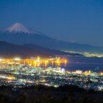 Pemandangan malam dari Nihondaira di Shizuoka