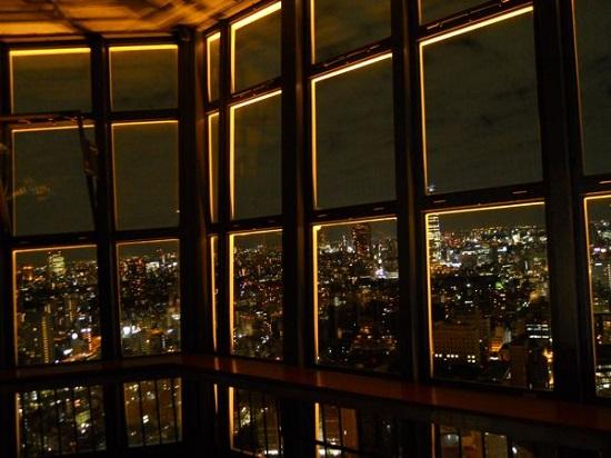 Pemandangan malam dari Tokyo Tower