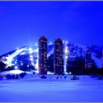 Pemandangan malam di Tomamu Hokkaido