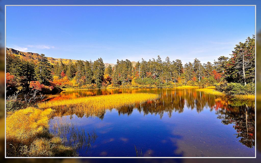 Pemandangan musim gugur di Kogen