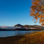 Pemandangan musim gugur di Lake Chuzenji Tochigi