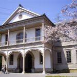 Pemandangan sakura di Meiji Mura Sakura 2020