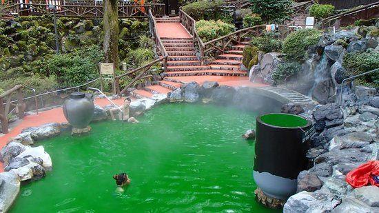 Pemandian air panas di Hakone Yunessun Hotel