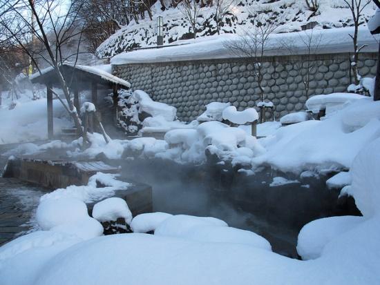 Pemandian air panas di Jozankei Sapporo