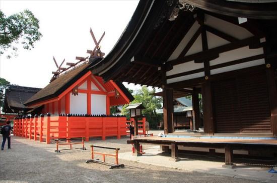 Pendopo utama Honden Kuil Sumiyoshi Taisha
