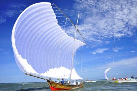 Perahu Hobikibune di Danau Kasumigaura