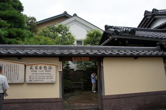 Pintu masuk rumah samurai Nomura di Distrik Samurai Nagamachi