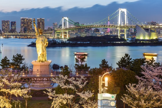 Rainbow Bridge dari Taman Odaiba