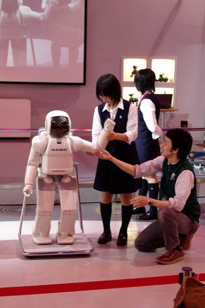 Robot Asimo di Museum Miraikan