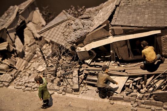 Salah satu miniatur di Museum Gempa Kobe