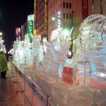 Salah satu presentasi di Festival Salju di Sapporo