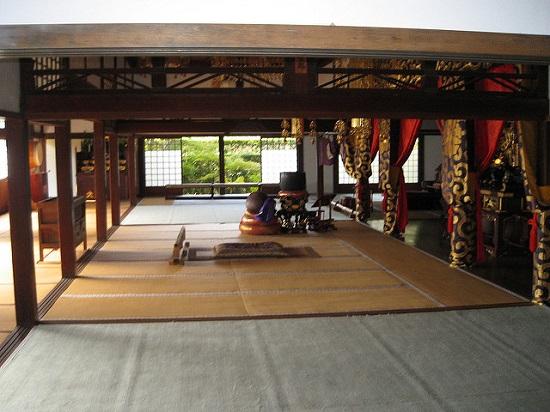 Salah satu ruangan di Kuil Genkoan