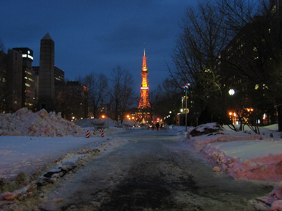 Sapporo TV Tower dari Taman Odori