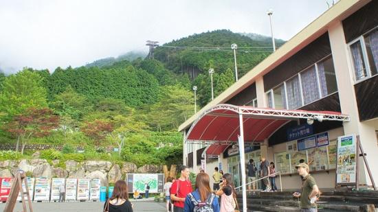 Stasiun Zipline di Biwako Valley