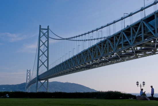 Suasana Akashi Kaikyo Bridge Kobe