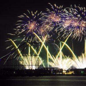 Suasana Festival Kembang Api Hakkeijima Sea Paradise