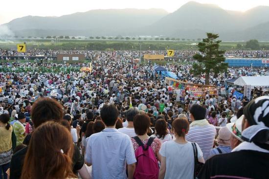 Suasana Festival Kembang Api Omagari