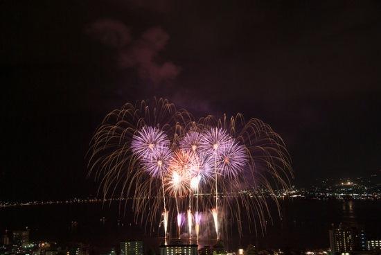 Suasana Festival Kembang Api Suwako