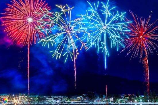 Suasana Festival Kembang Api di Kawaguchiko