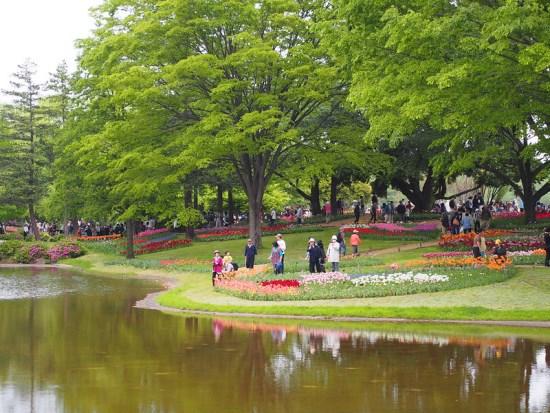 Suasana Flower Festival di Showa Memorial Park