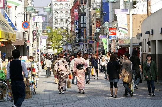 Suasana Kawaramachi Gion Kyoto