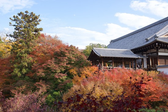 Suasana Kuil Tofukuji di Kyoto